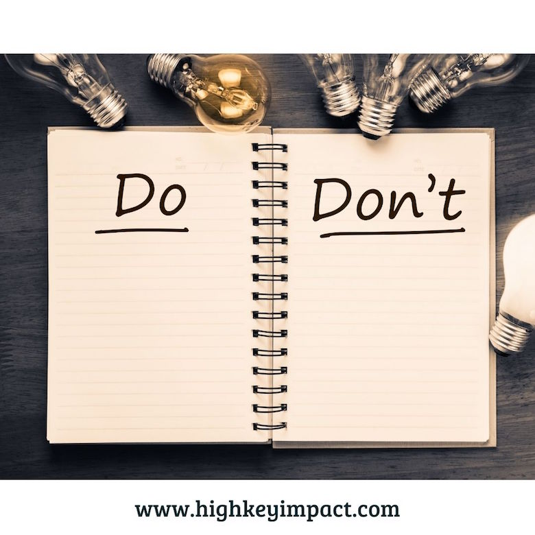 do's and don't list